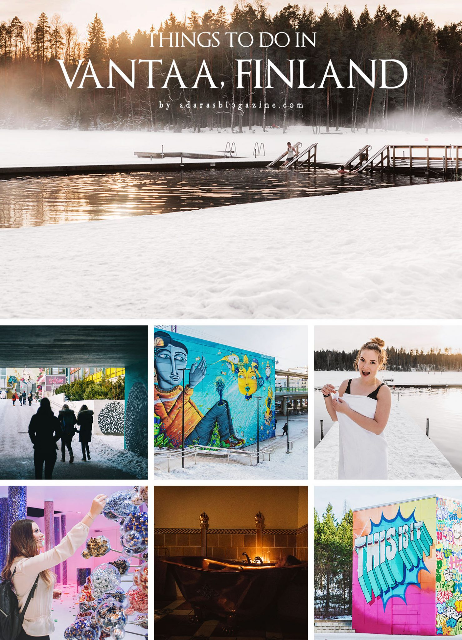 Collage with things to do in Vantaa, Finland
