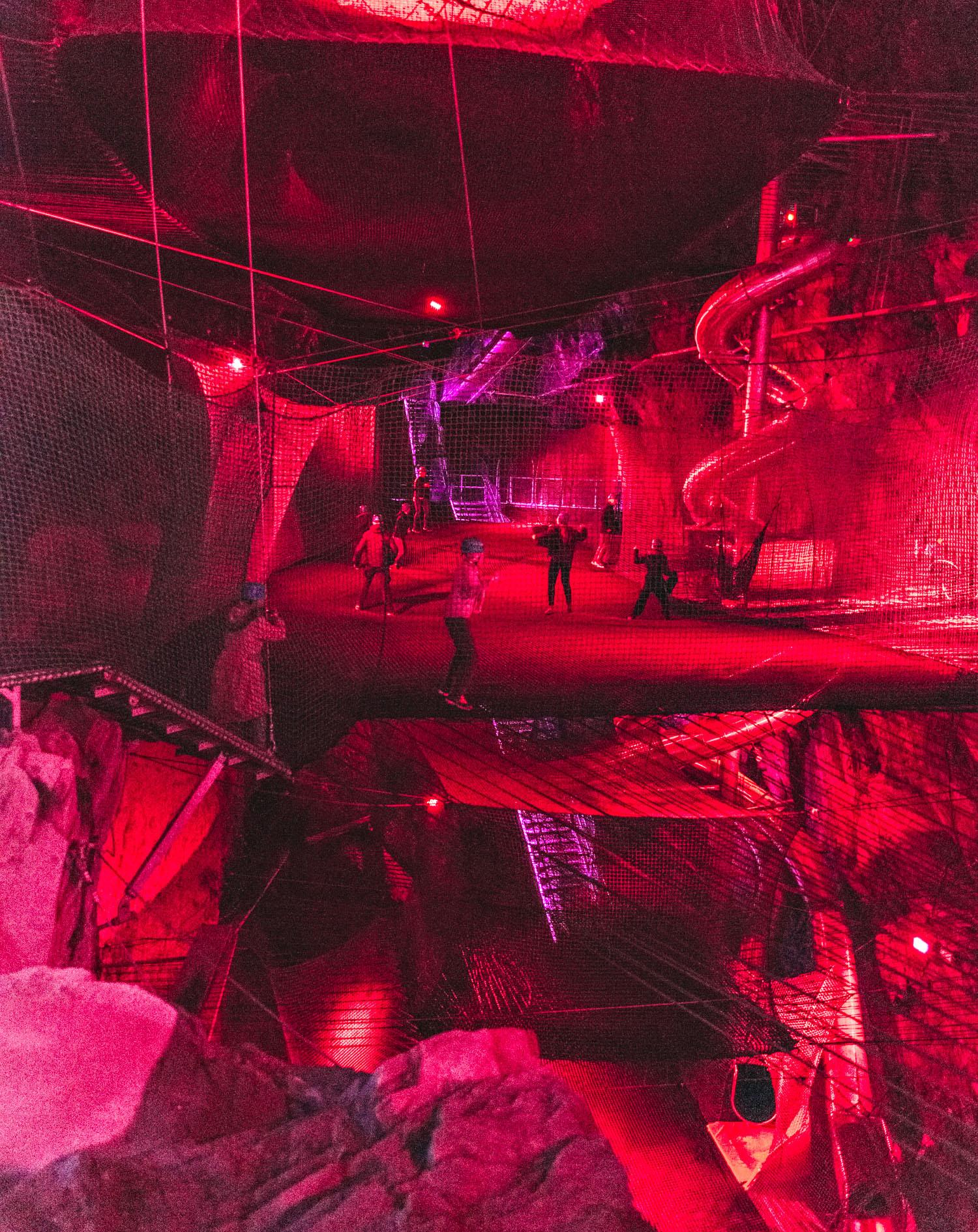 Bounce Below - Underground Trampolines in North Wales