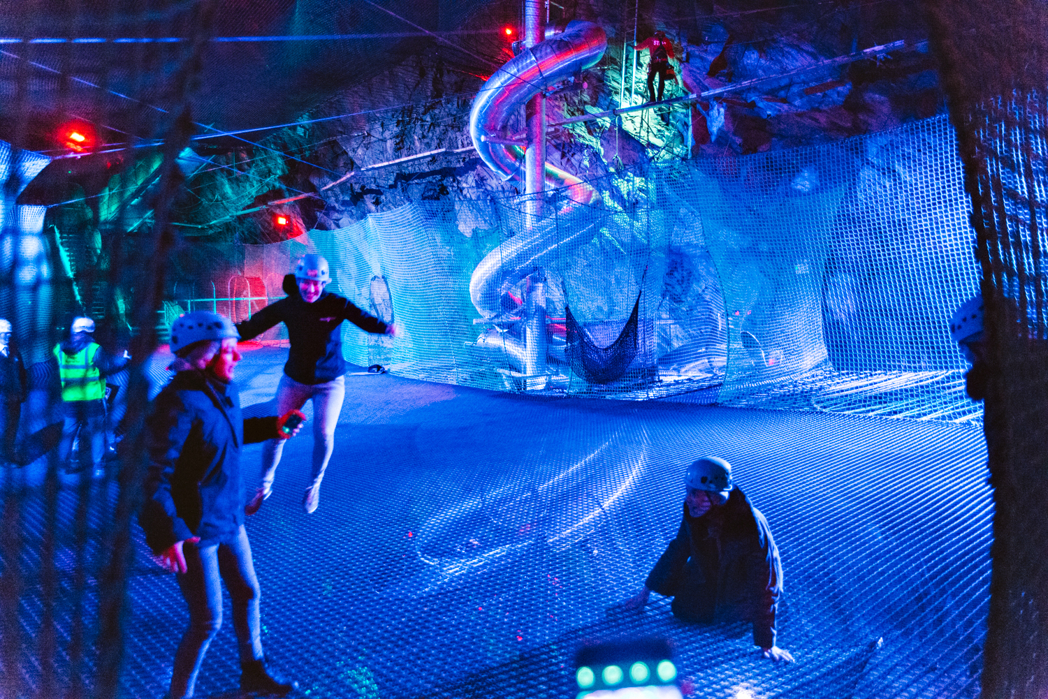 Bounce Below - Jumping on Underground Trampolines in a Welsh Slate Mine
