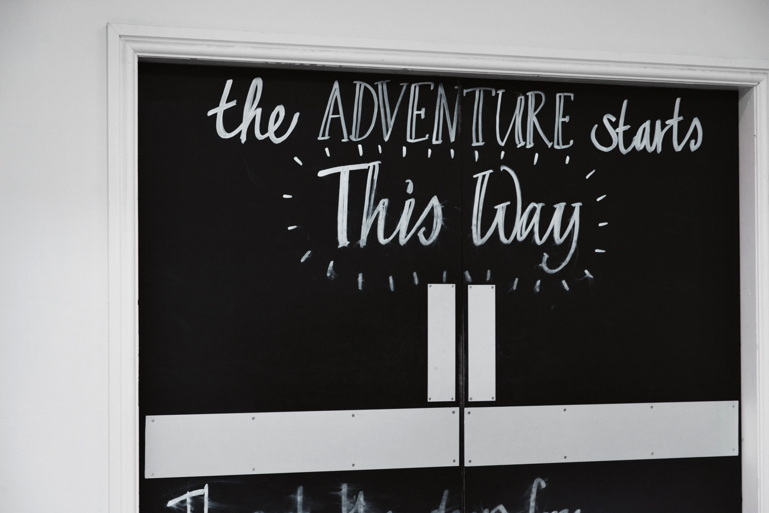 """The adventure starts this way"" - at Bounce Below"
