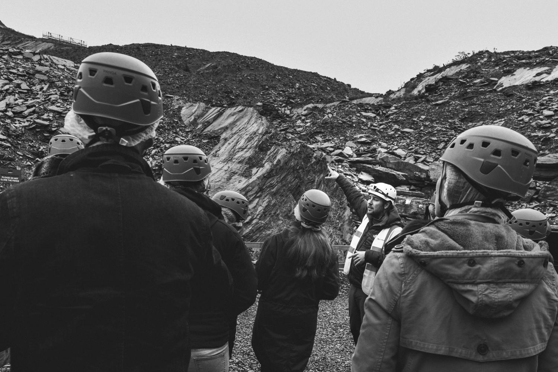 Guide at Llechwedd Slate Caverns in Blaenau Ffestiniog, North Wales