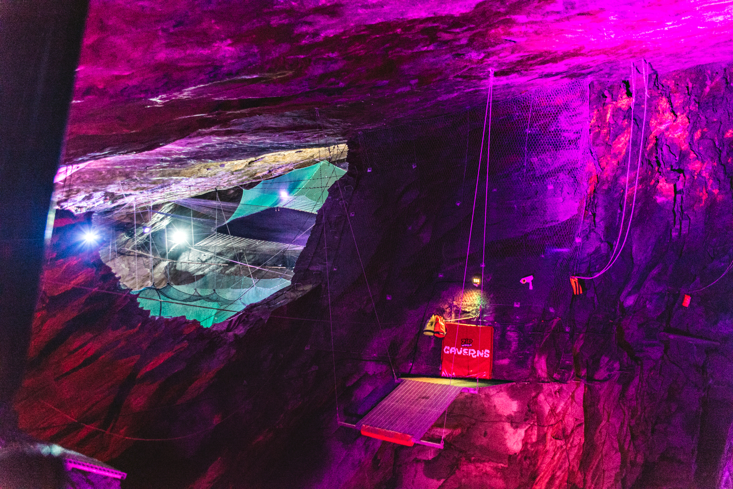 Bounce Below Experience - Underground Trampolines in North Wales