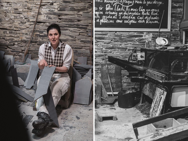 History of mine workers - Llechwedd Slate Caverns in Wales
