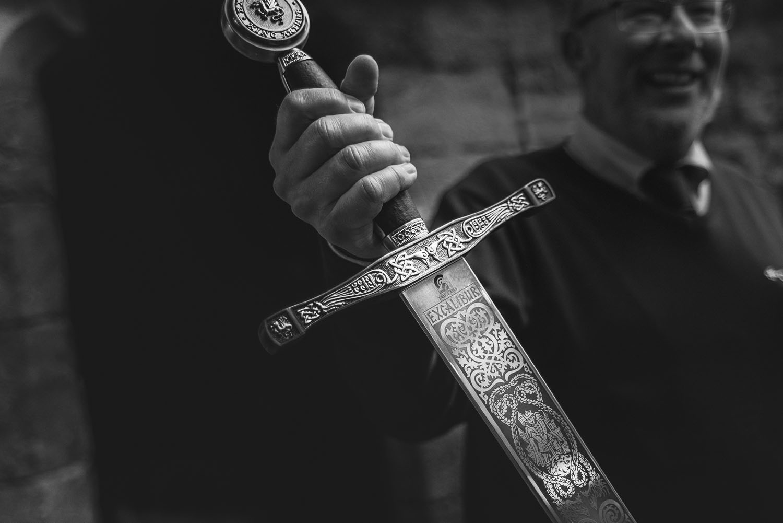 Excalibur Sword in Caernarvon Castle