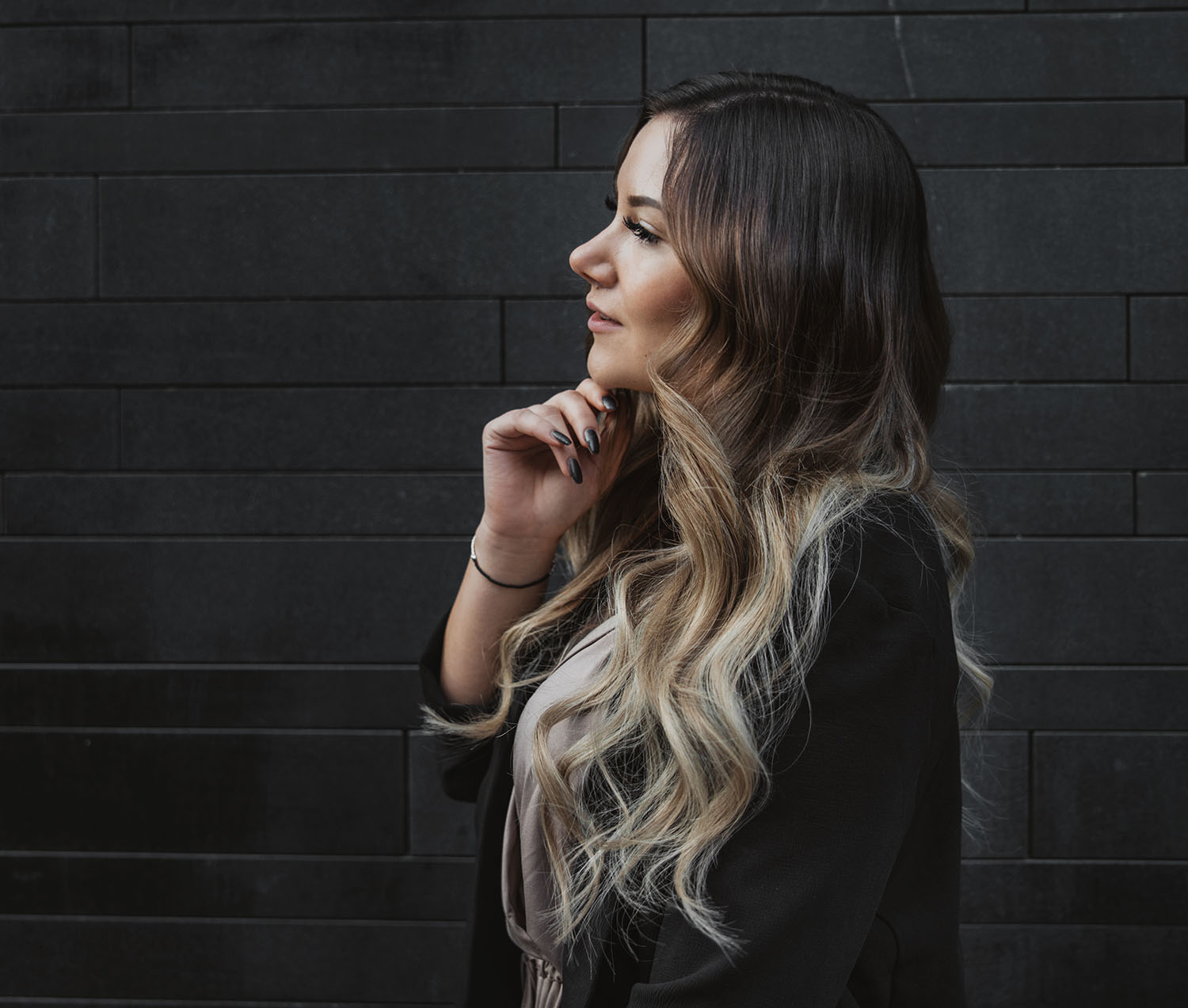 ADARAS Beach Waves with Rapunzel of Sweden Balayage Hair Extensions