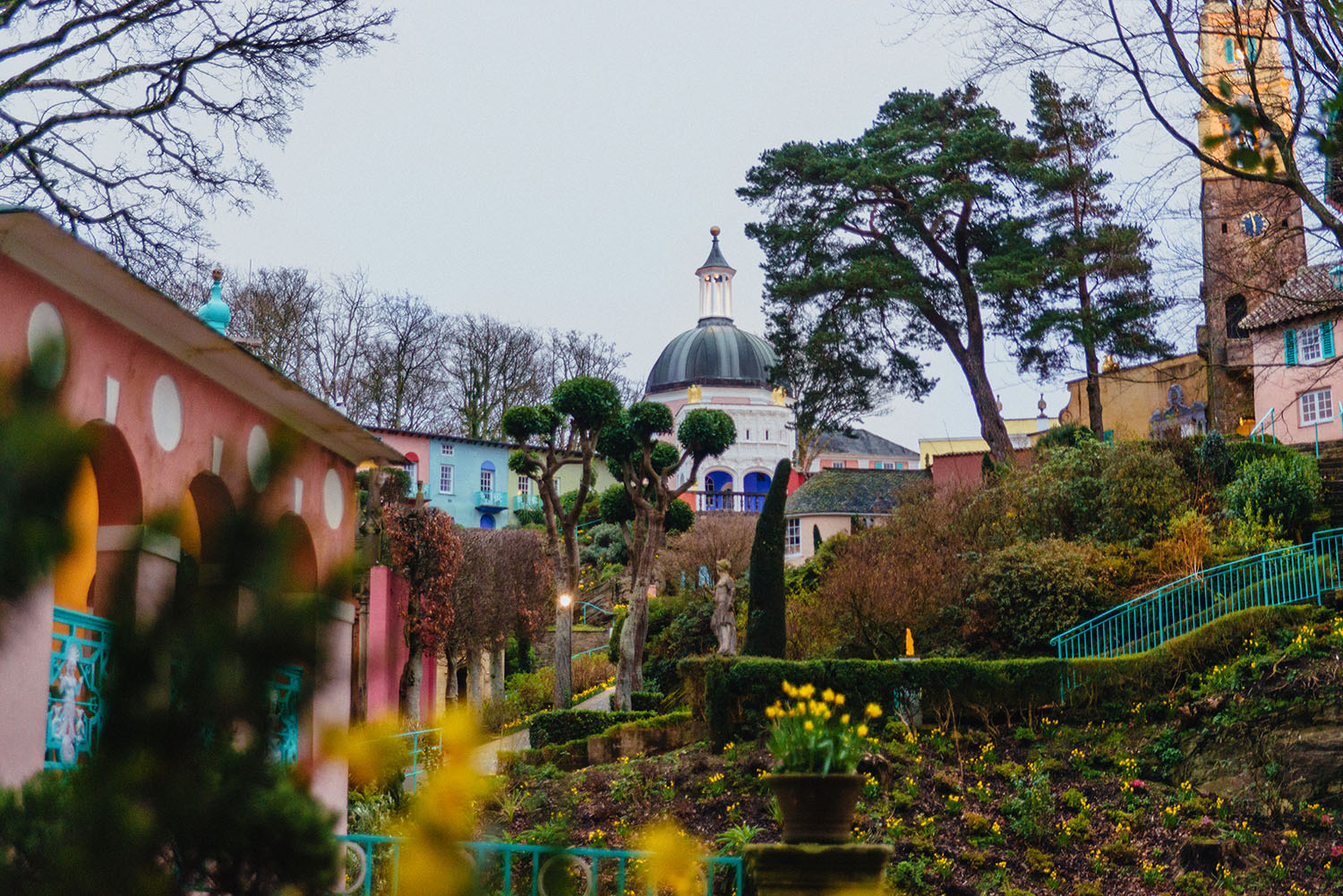 Fantasy village Portmeirion, Wales