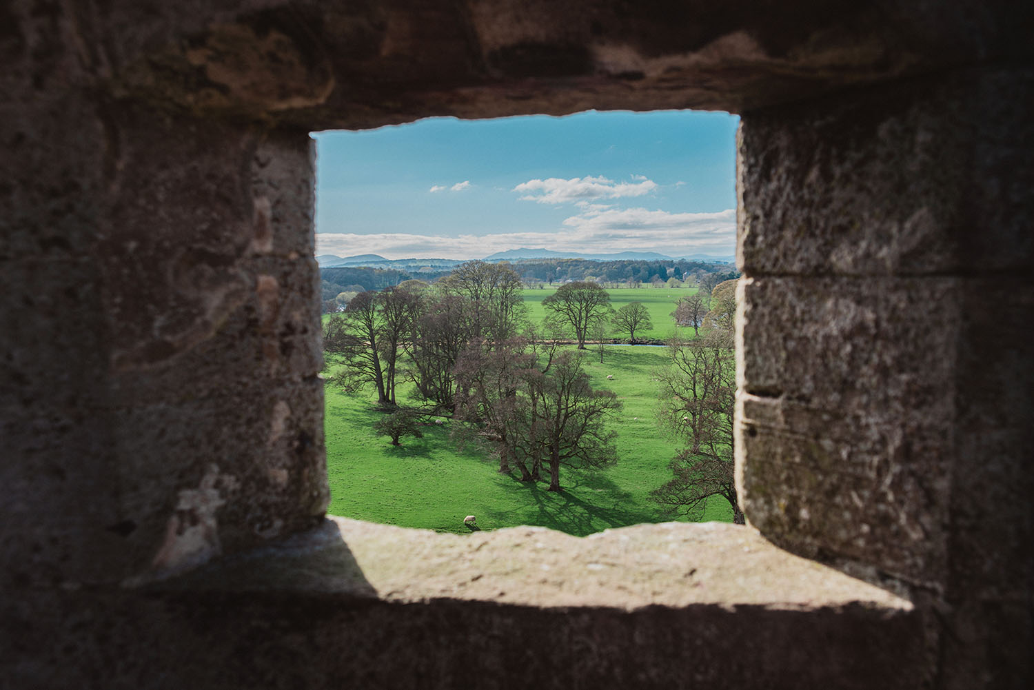 View from Brougham Castle in Cumbria