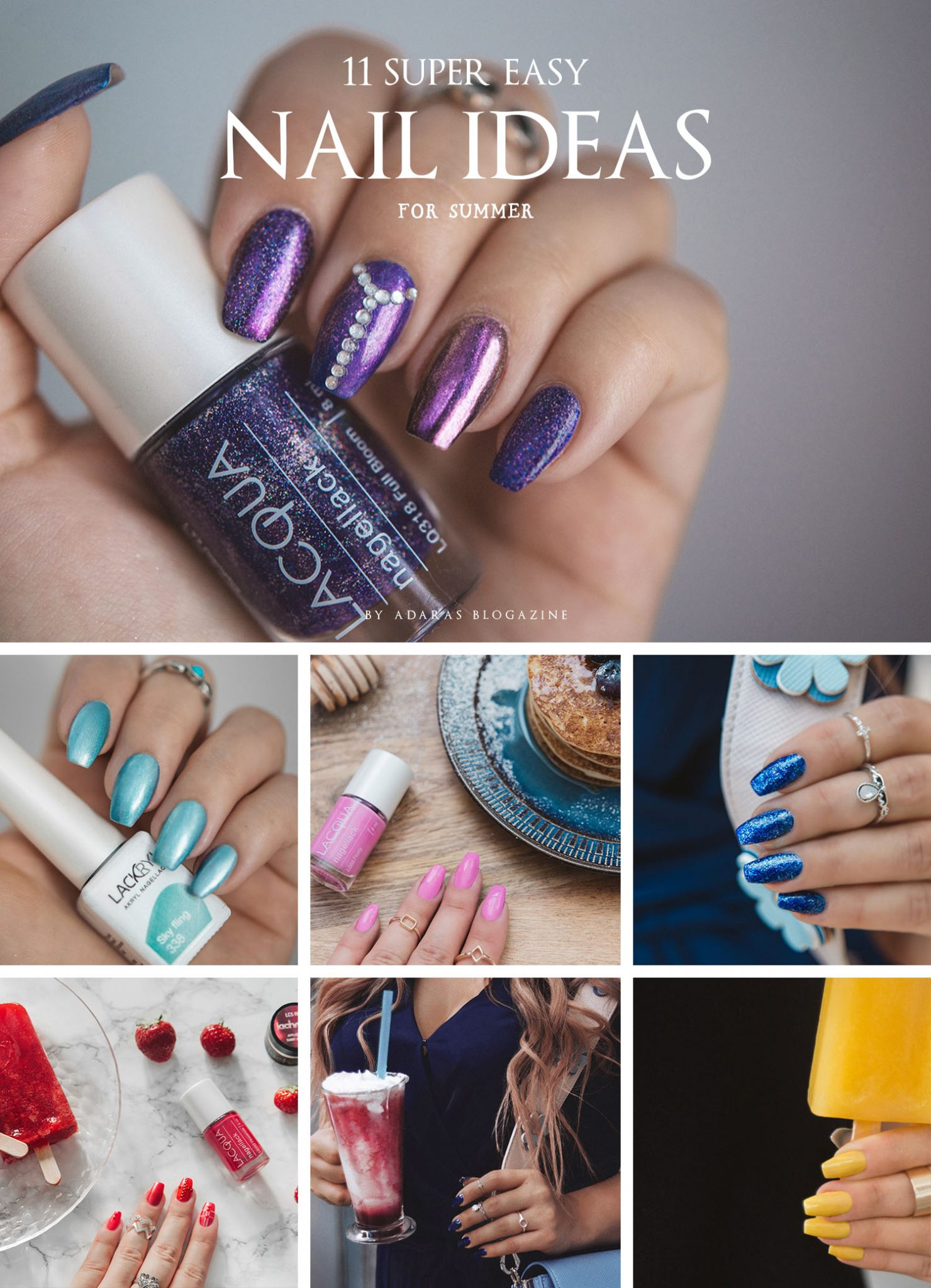11 Easy Nail Ideas for Summer ⋆ ADARAS Blogazine