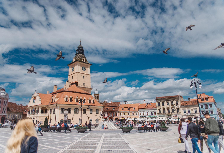 Braşov, Transylvania - The square Piața Sfatului