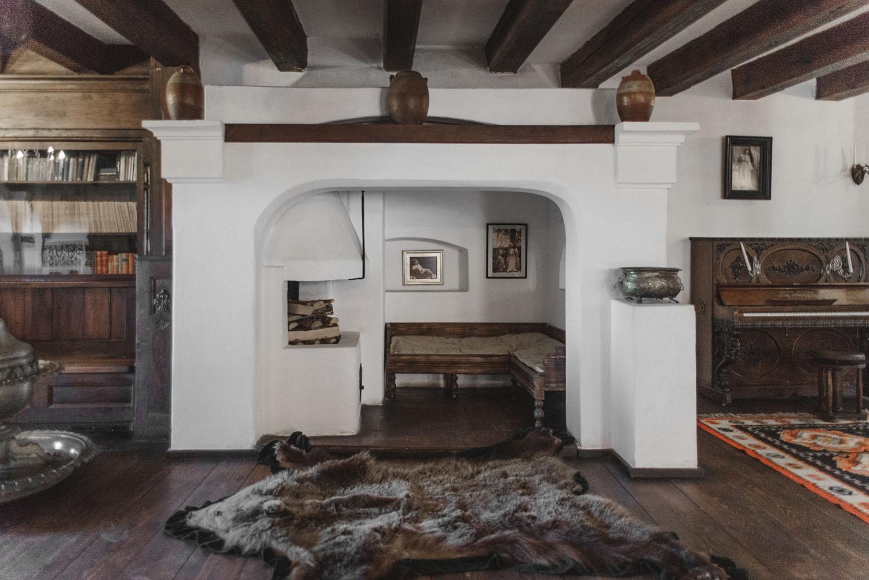 Interior inside Dracula's Castle in Transylvania