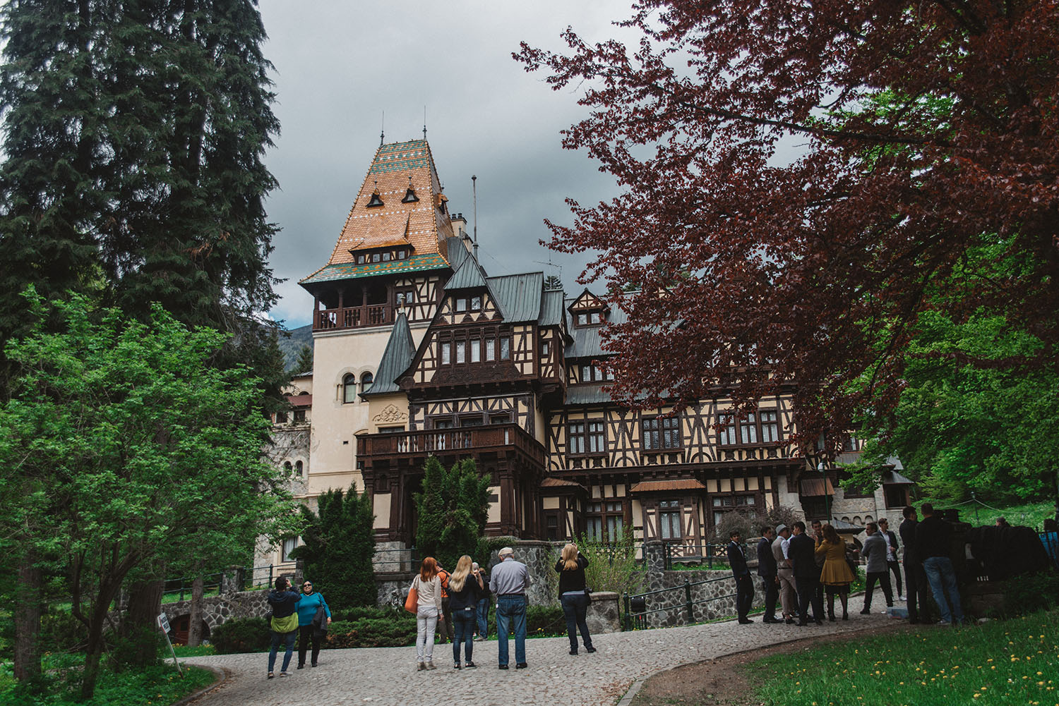 Pelisor Castle in Sinaia, Romania