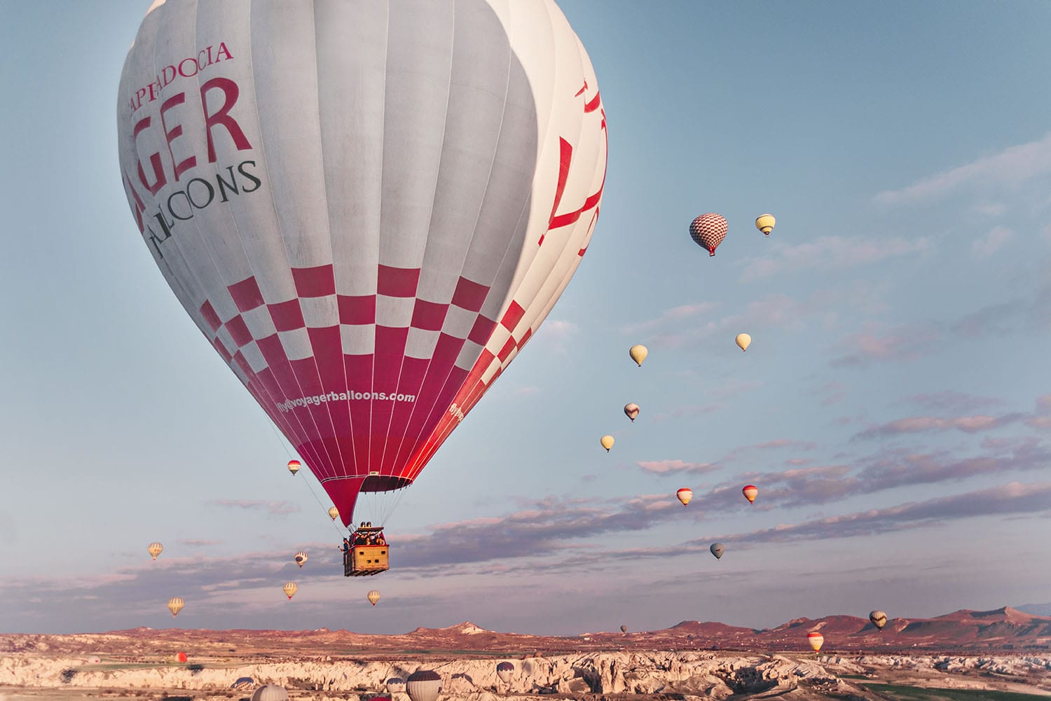 Hot Air Ballooning in Cappadocia with Voyager Balloons