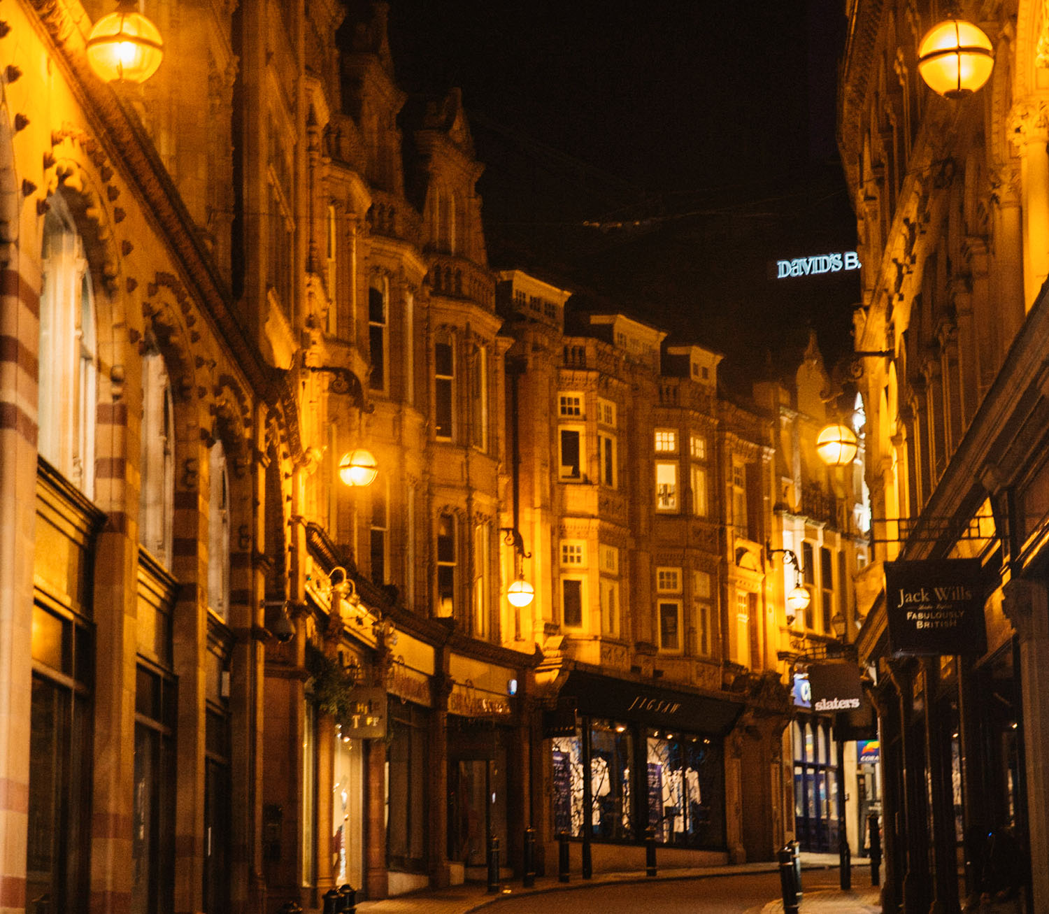 Cozy night street in Birmingham