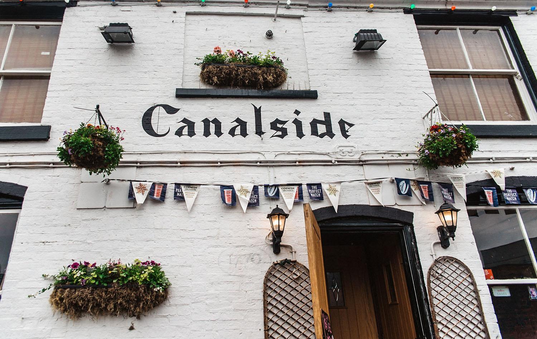 Canalside in Birmingham
