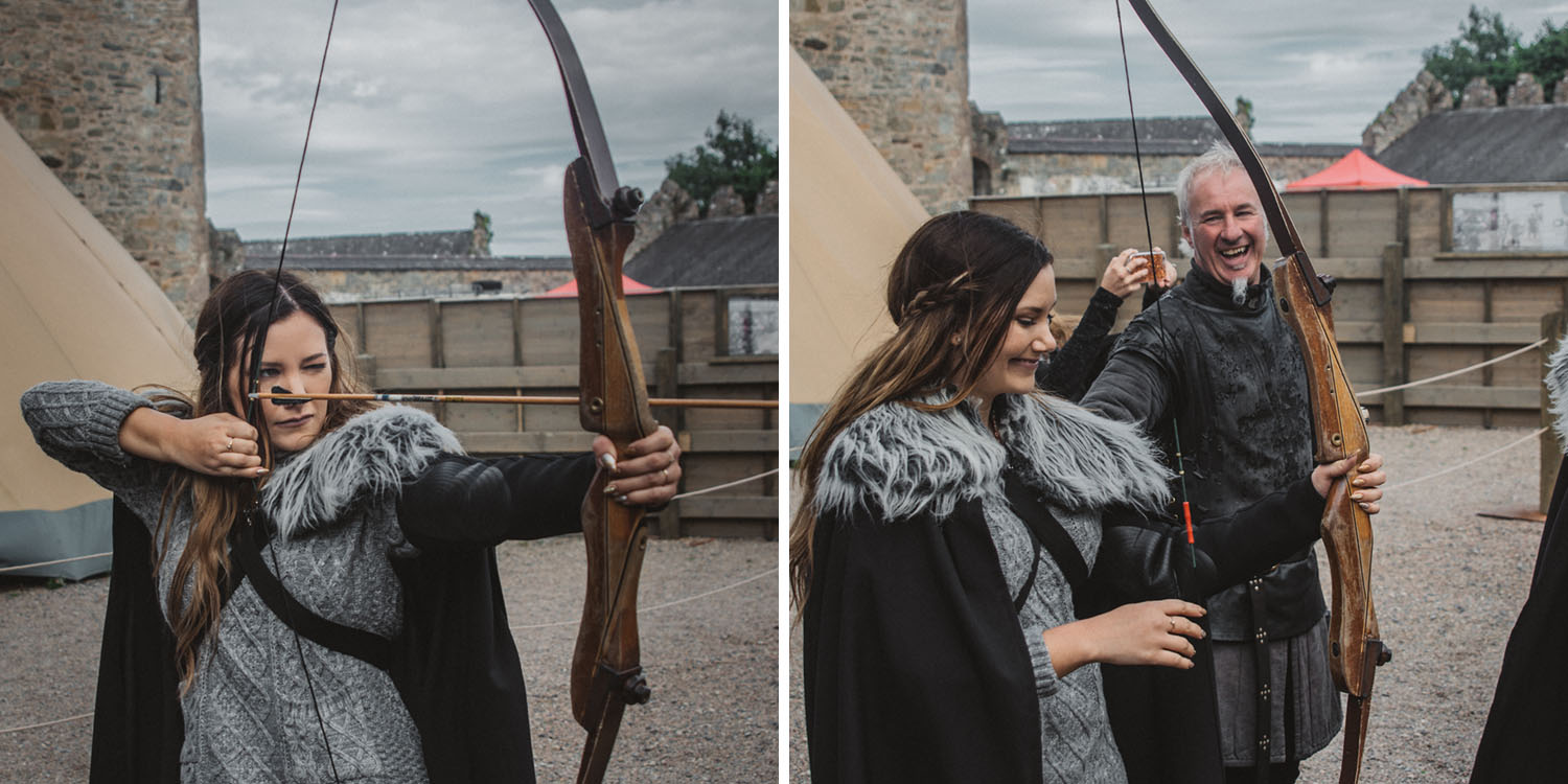 Archery in Winterfell, Castle Ward in Northern Ireland