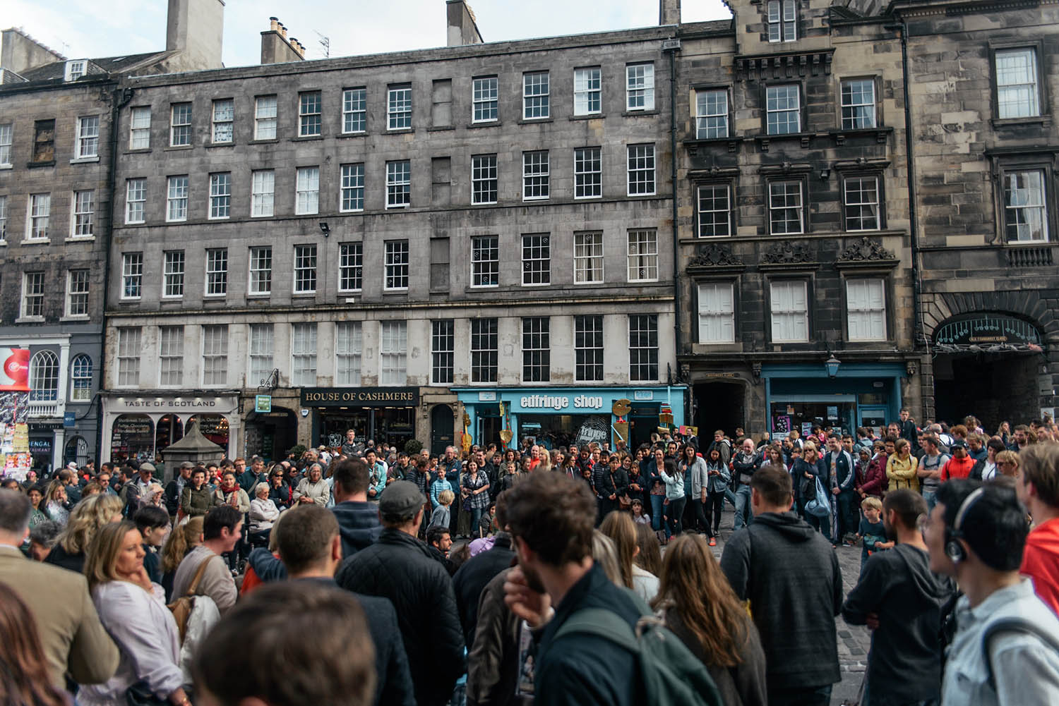 People Gathering at Edinburgh Fringe Festival