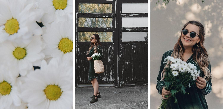 Green Velvet Dress Outfit