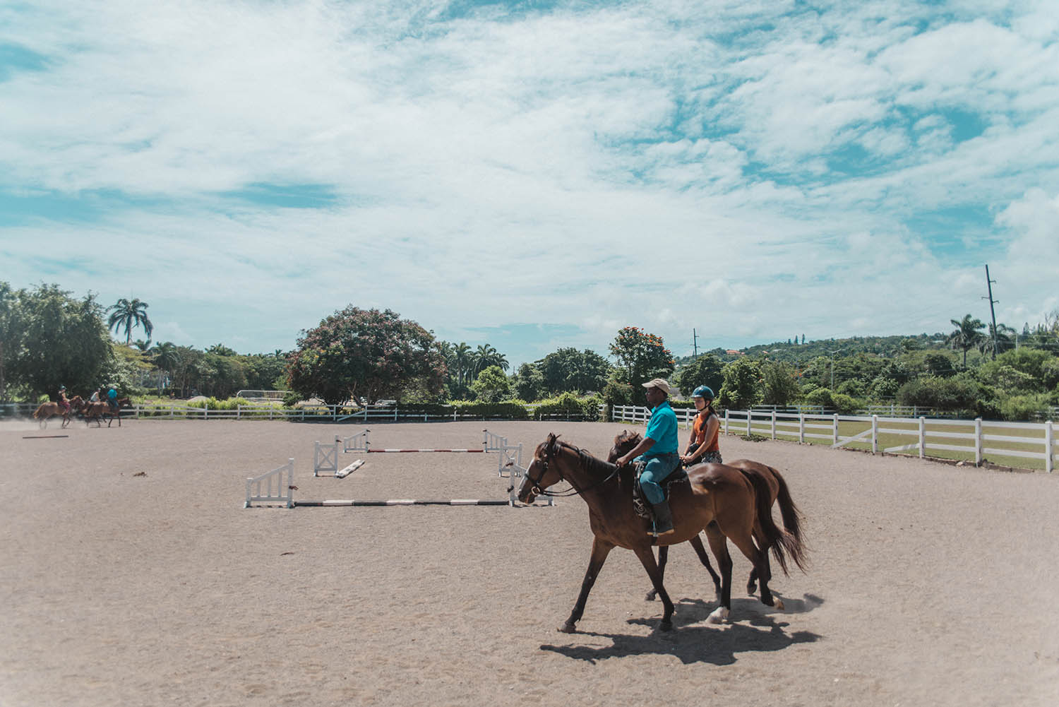 Horse-back riding on Half Moon Equestrian arena