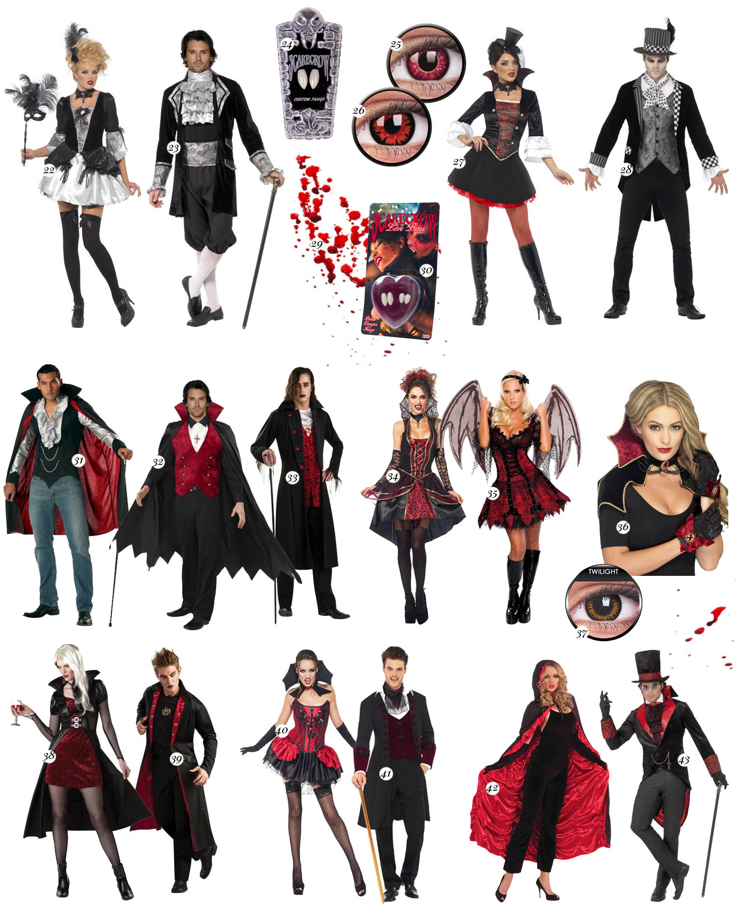 Vampire Costume Ideas for Couples