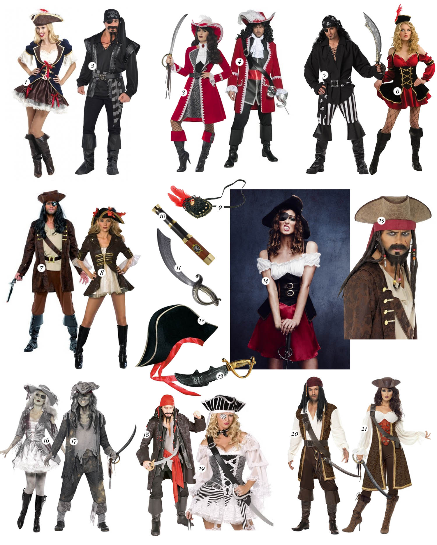 Pirate Costume Ideas for Couples