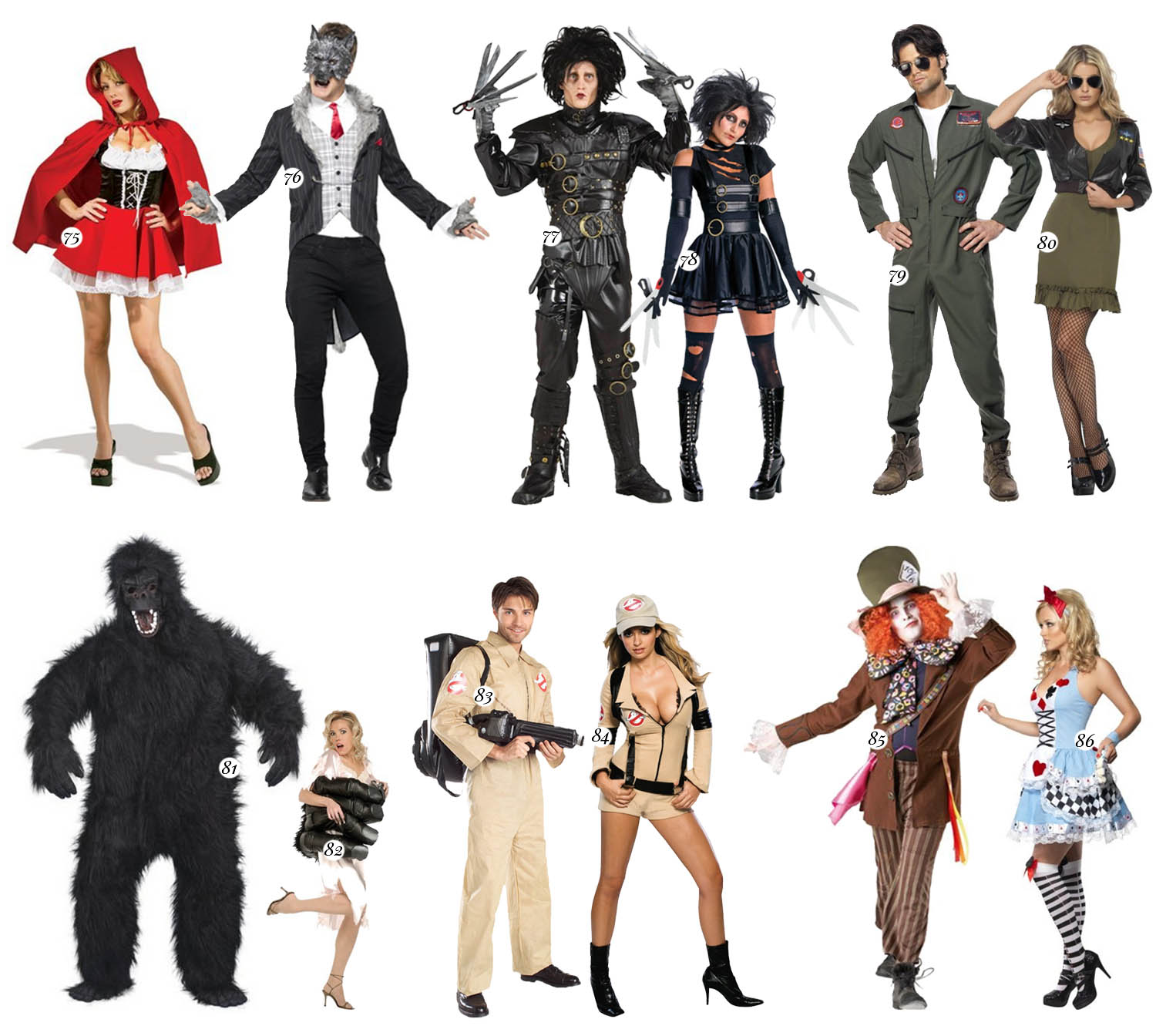 TV & Movie Costumes for Couples