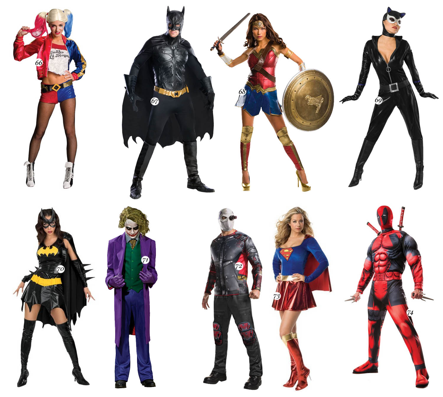 Superheroe Costumes for Couples - Halloween