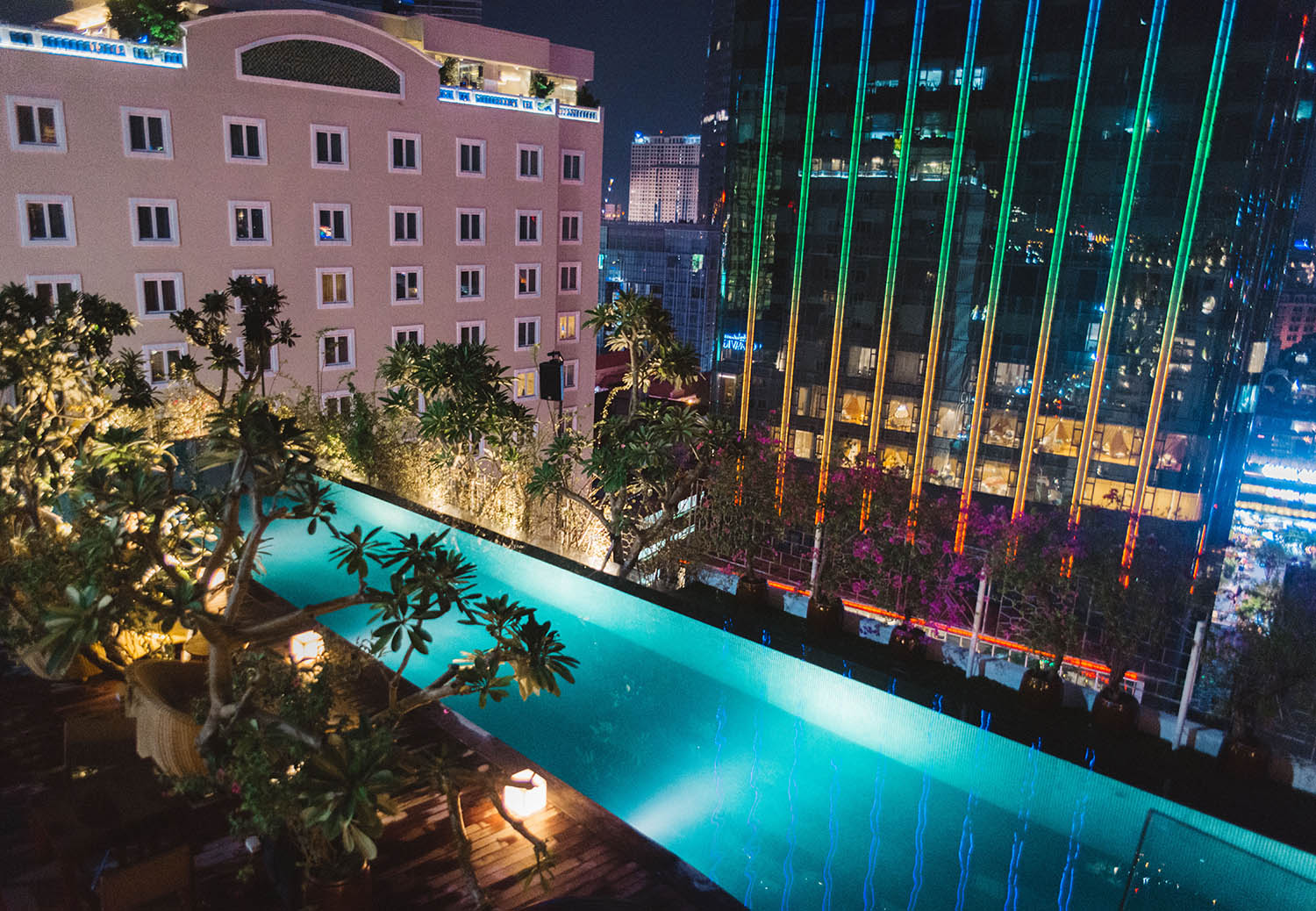 Rooftop pool at The Myst Dong Khoi, Ho Chi Minh City, Vietnam