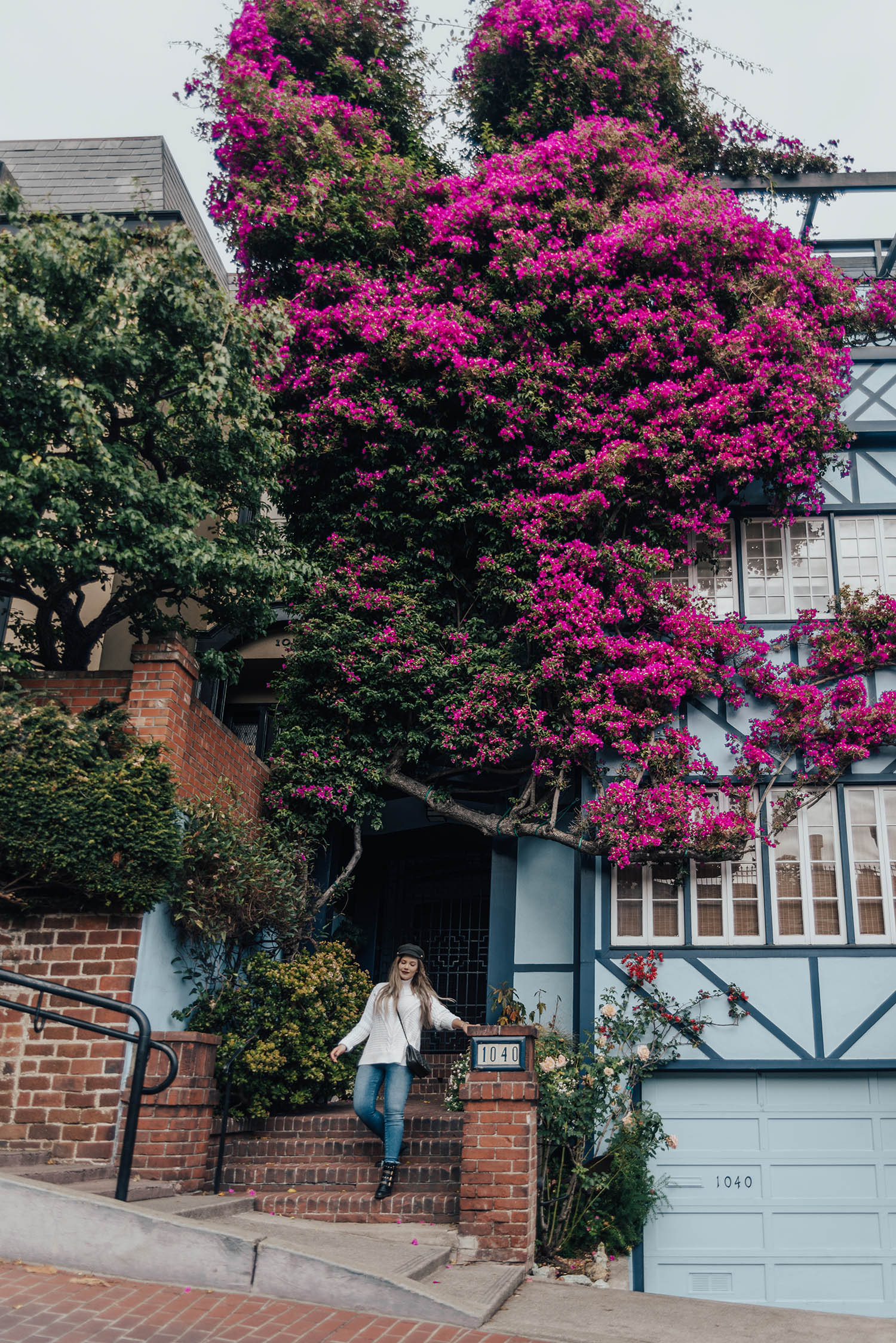 Instagramvänliga platser i San Francisco / Adaras på Lombard Street