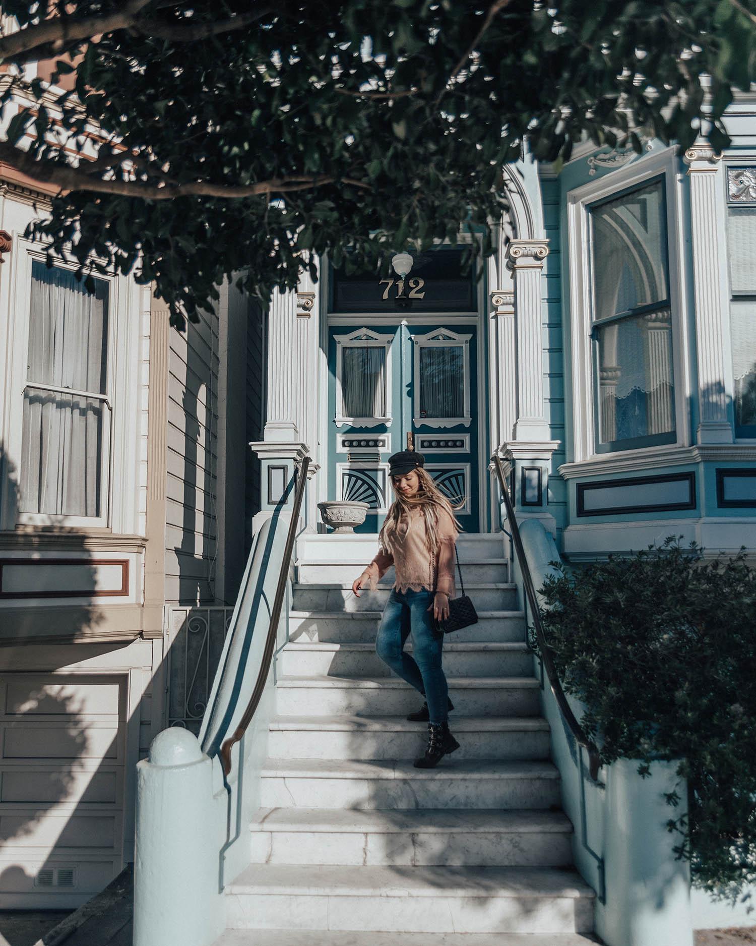 Adaras vid Painted Ladies - Instagramvänliga platser i San Francisco