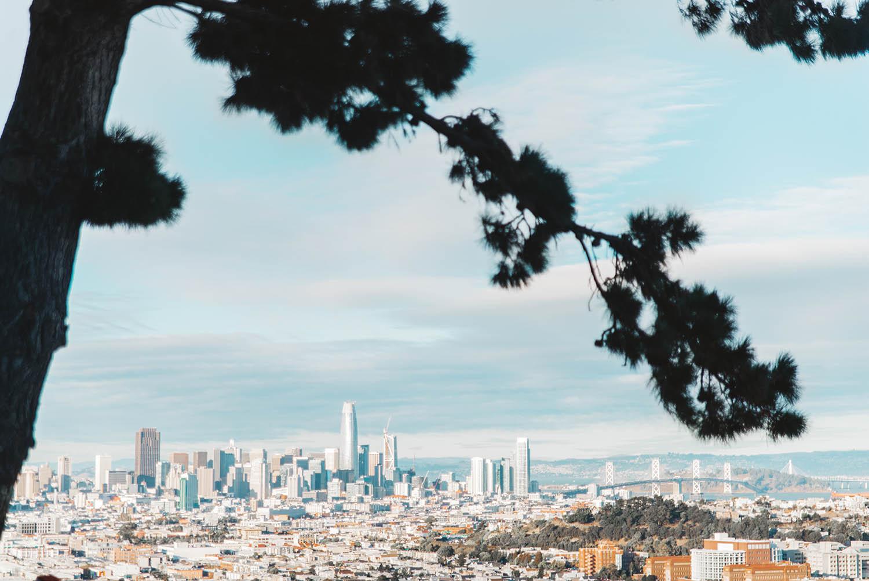 Solnedgång vid Bernal Heights - Instagramvänliga platser i San Francisco