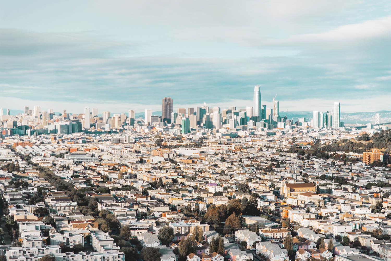 Bästa utsikten över San Francisco - Bernal Heights