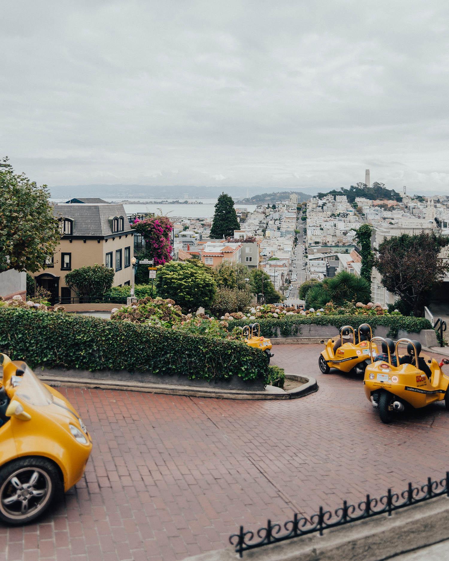 Lombard Street - Instagramvänliga platser i San Francisco