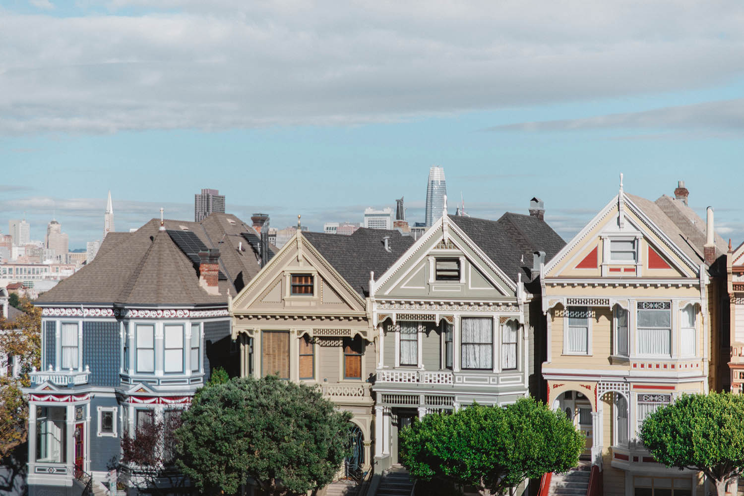 Painted Ladies Hus - Instagramvänliga platser i San Francisco