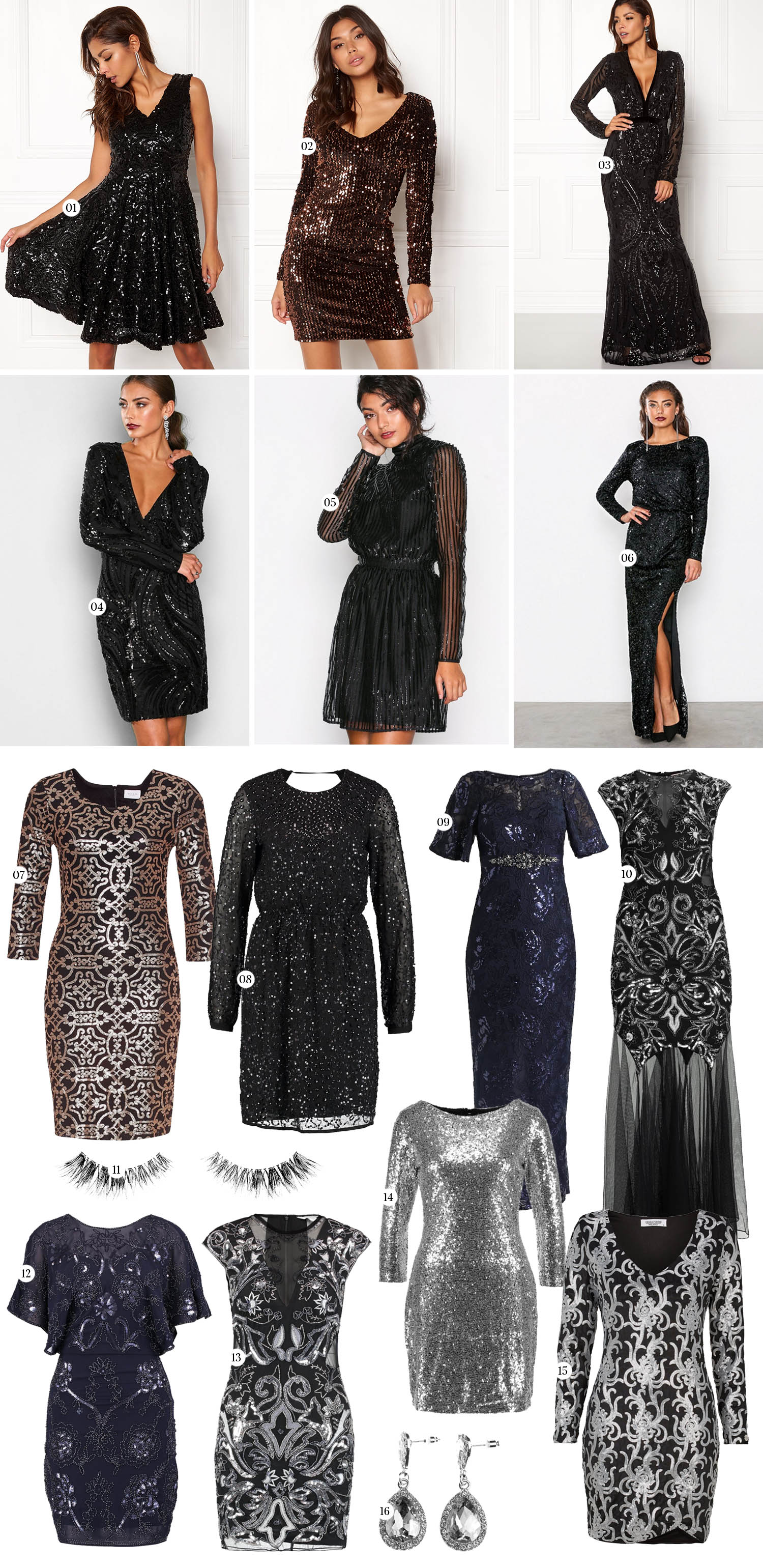 New Year's Eve Dresses - Sparkling Sequin Dresses