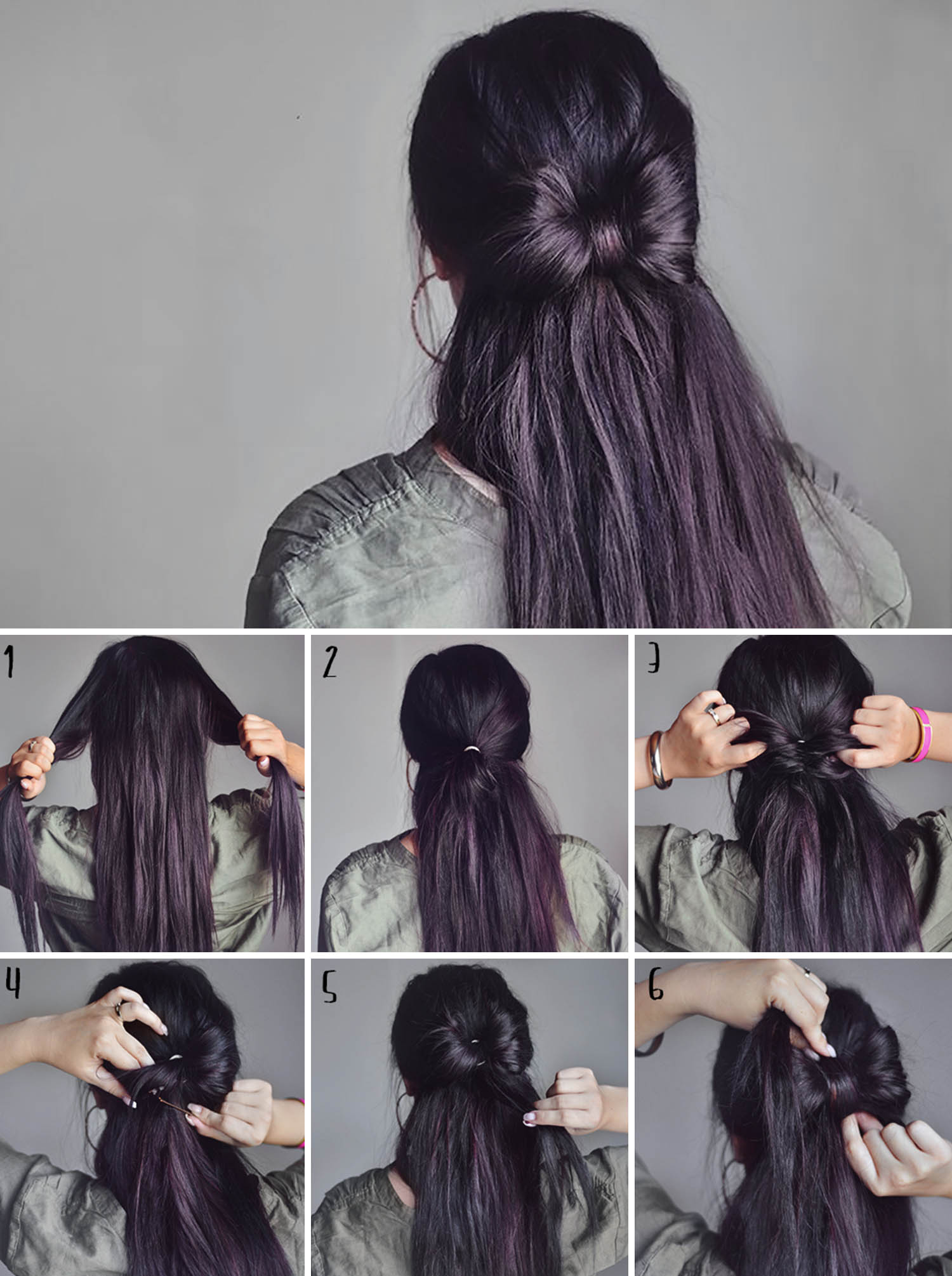 ADARAS Quick & Easy Hairstyles: Half-up Hair Bow Hairstyle
