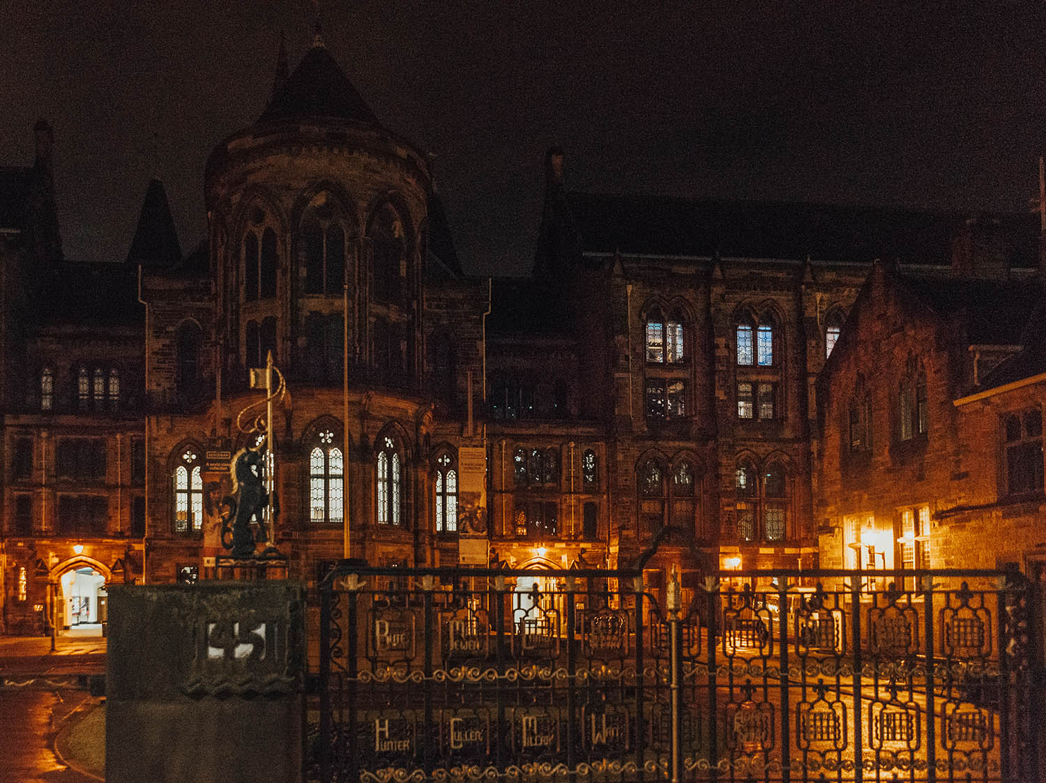 Glasgow University by Night