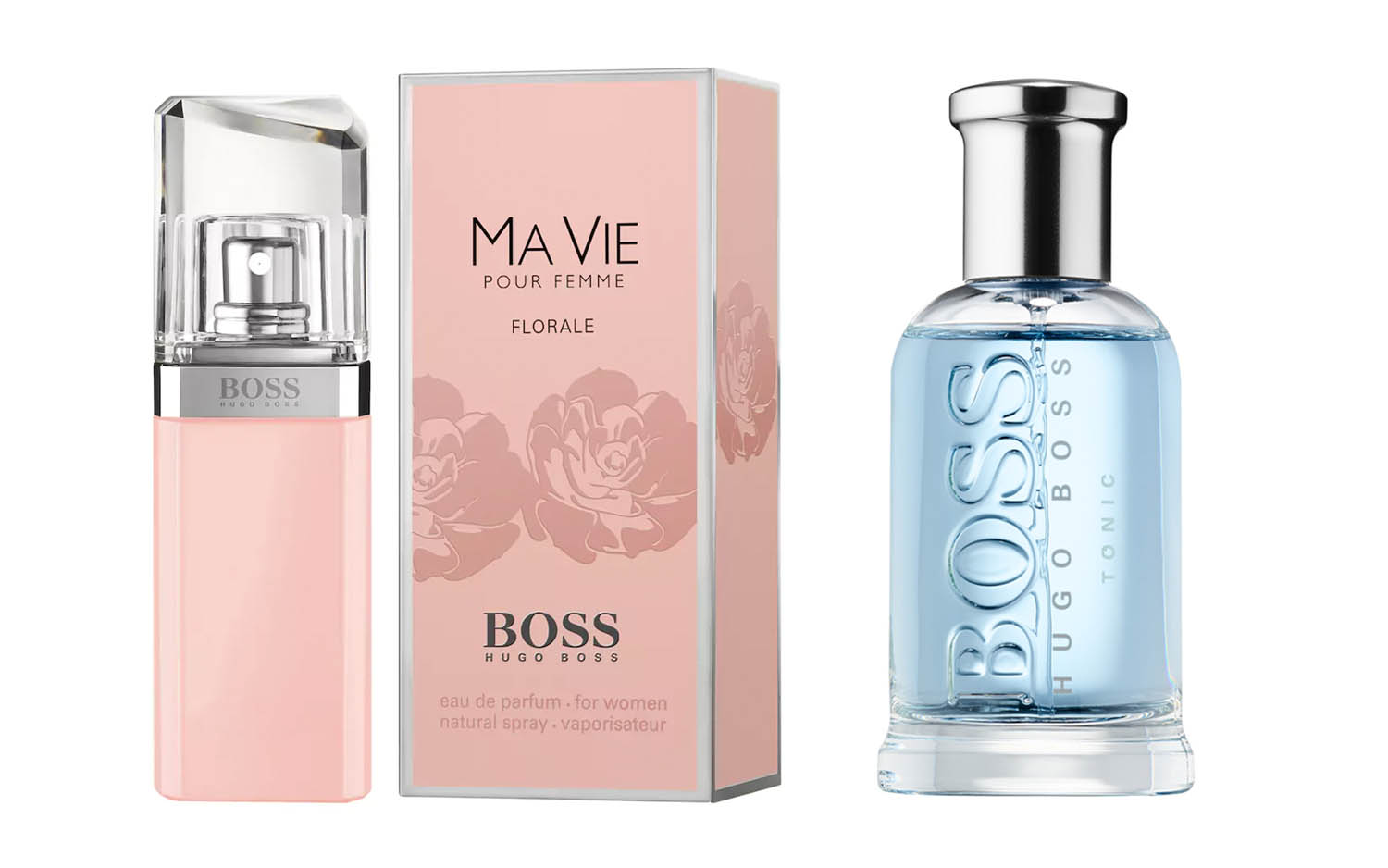 His and Hers Fragrances  Hugo Boss Ma Vie Florale   Boss Bottled Tonic 11081f3280f1