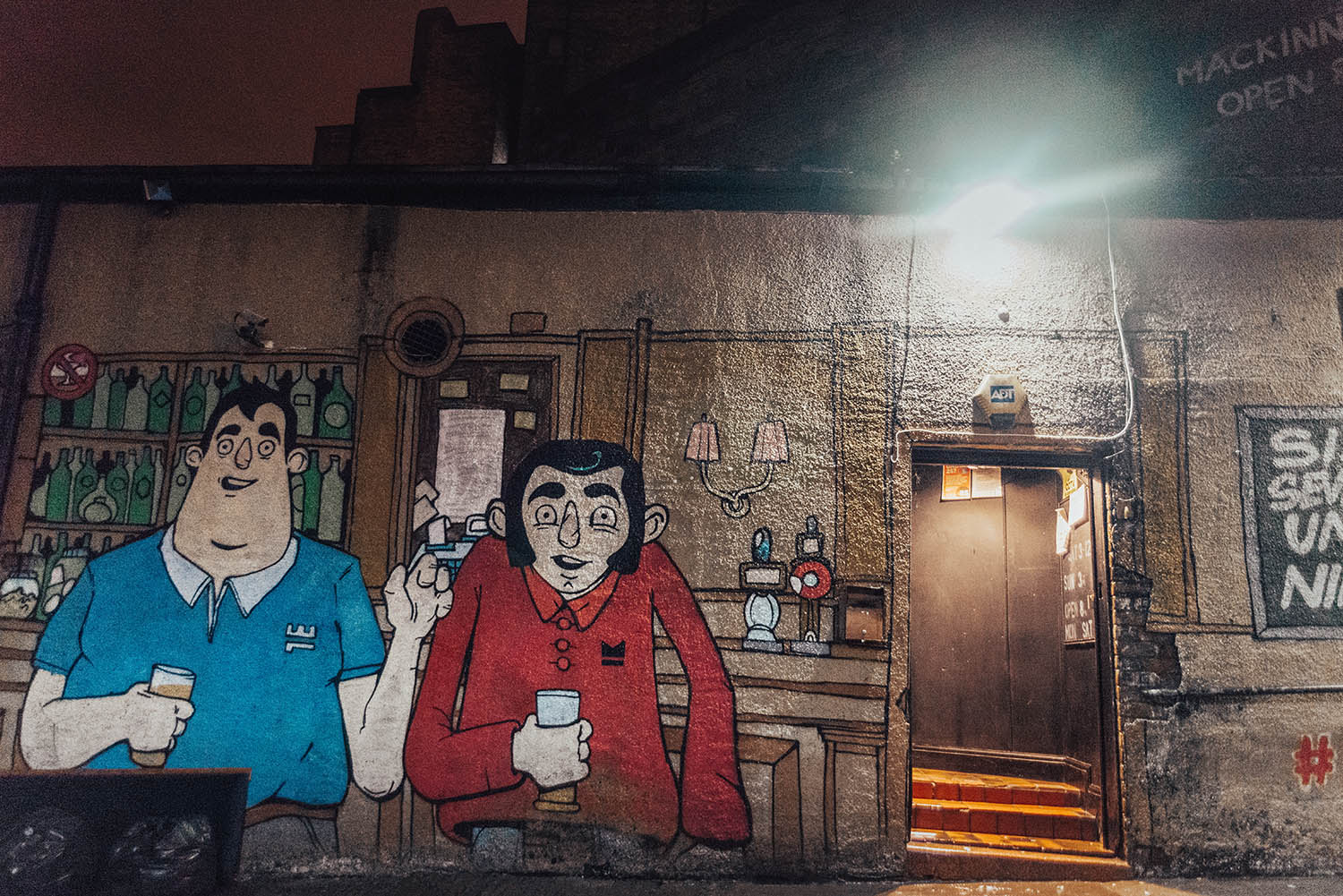 Street Art in Glasgow - by night