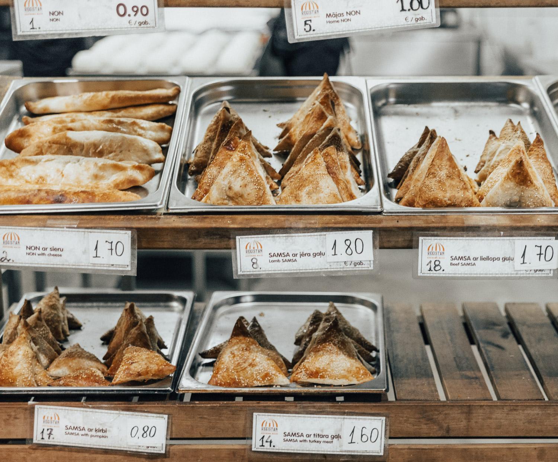 Sweet breads at Riga Central Market, Latvia
