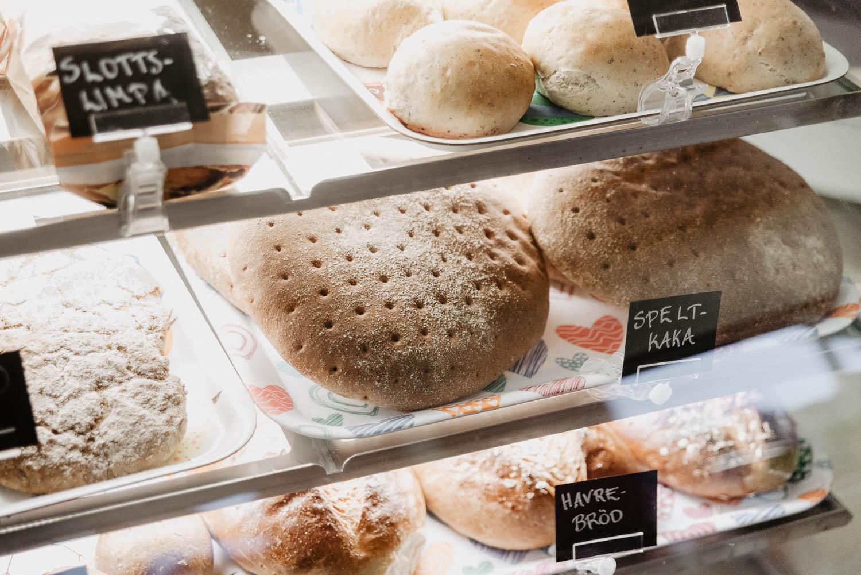 Homemade bread at BAKA! Konditori in Åland