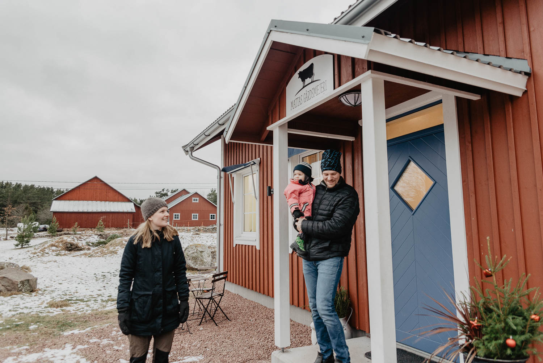 Jennifer Sundman and Lars-Johan Mattsson from Mattas Gårdsmejeri, Åland