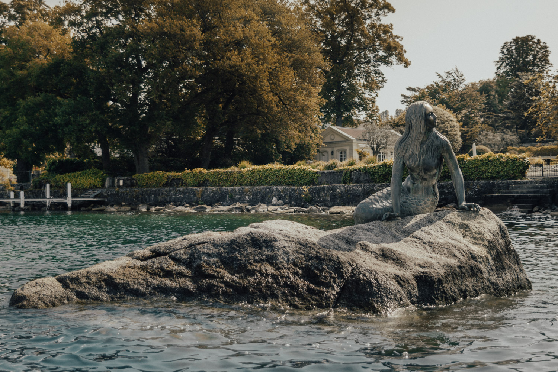 Mermaid Statue in Lake Geneva