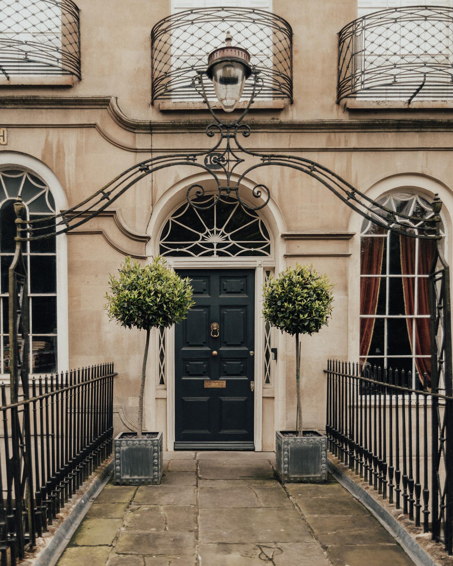 Door in Bath, Somerset, England, UK