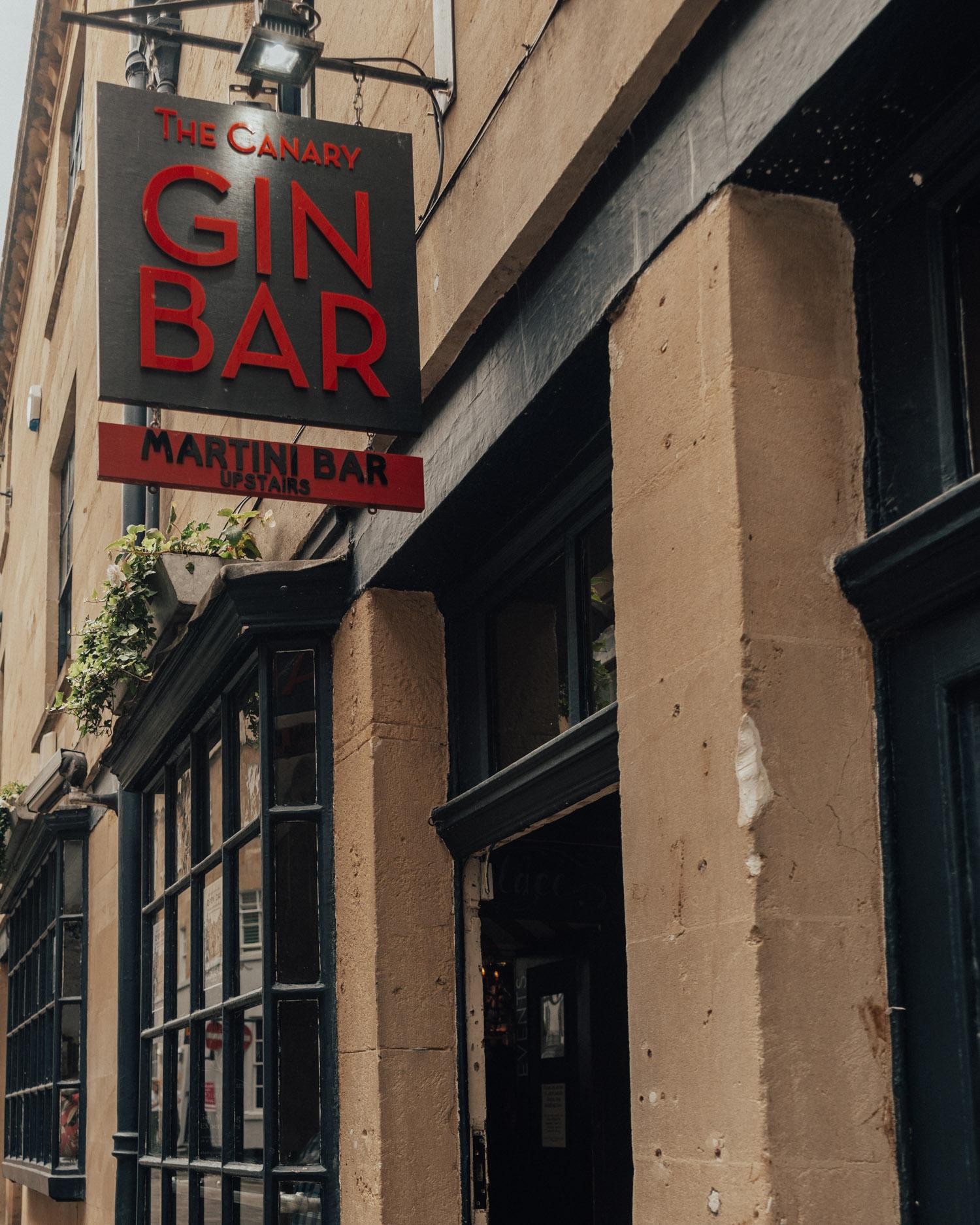 Canary Gin Bar in Bath