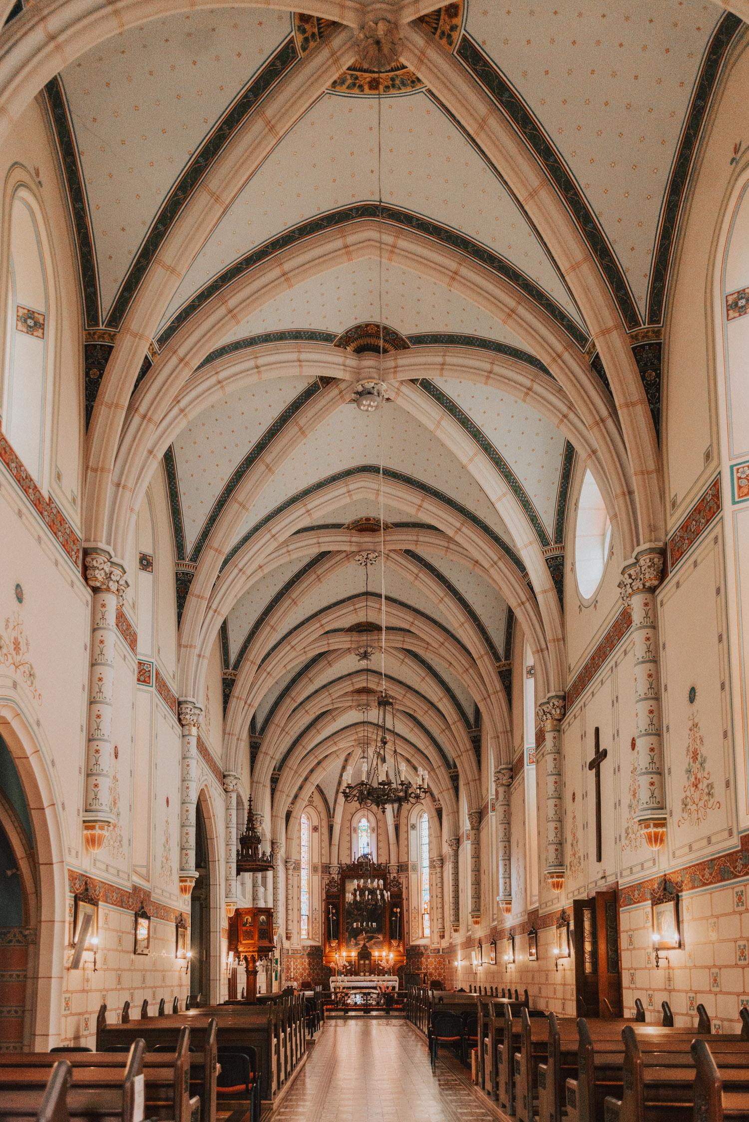 Interior, Church and Monastery of St. John of Capistrano in Ilok, Croatia