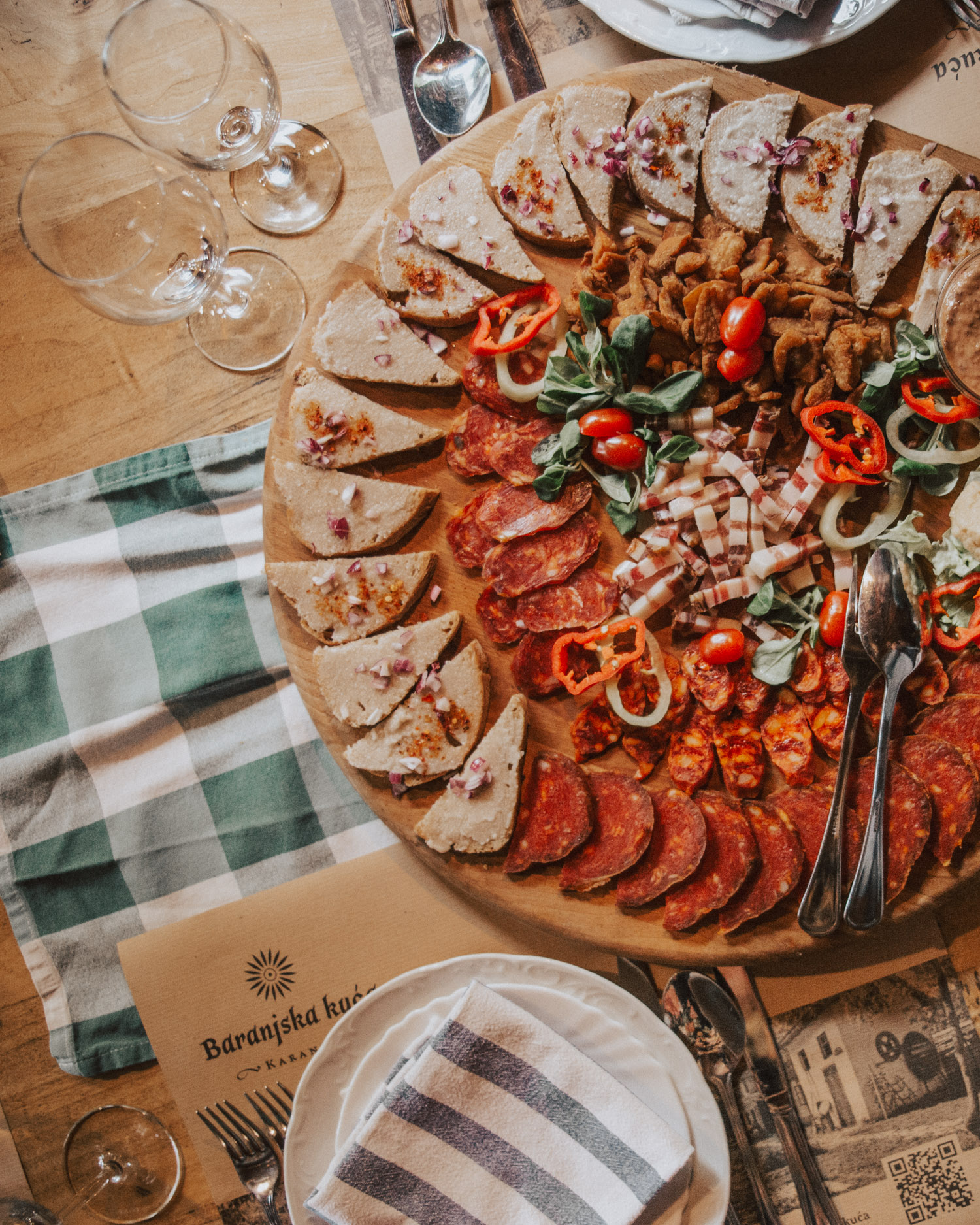 Food at Ethno Restaurant Baranjska Kuća