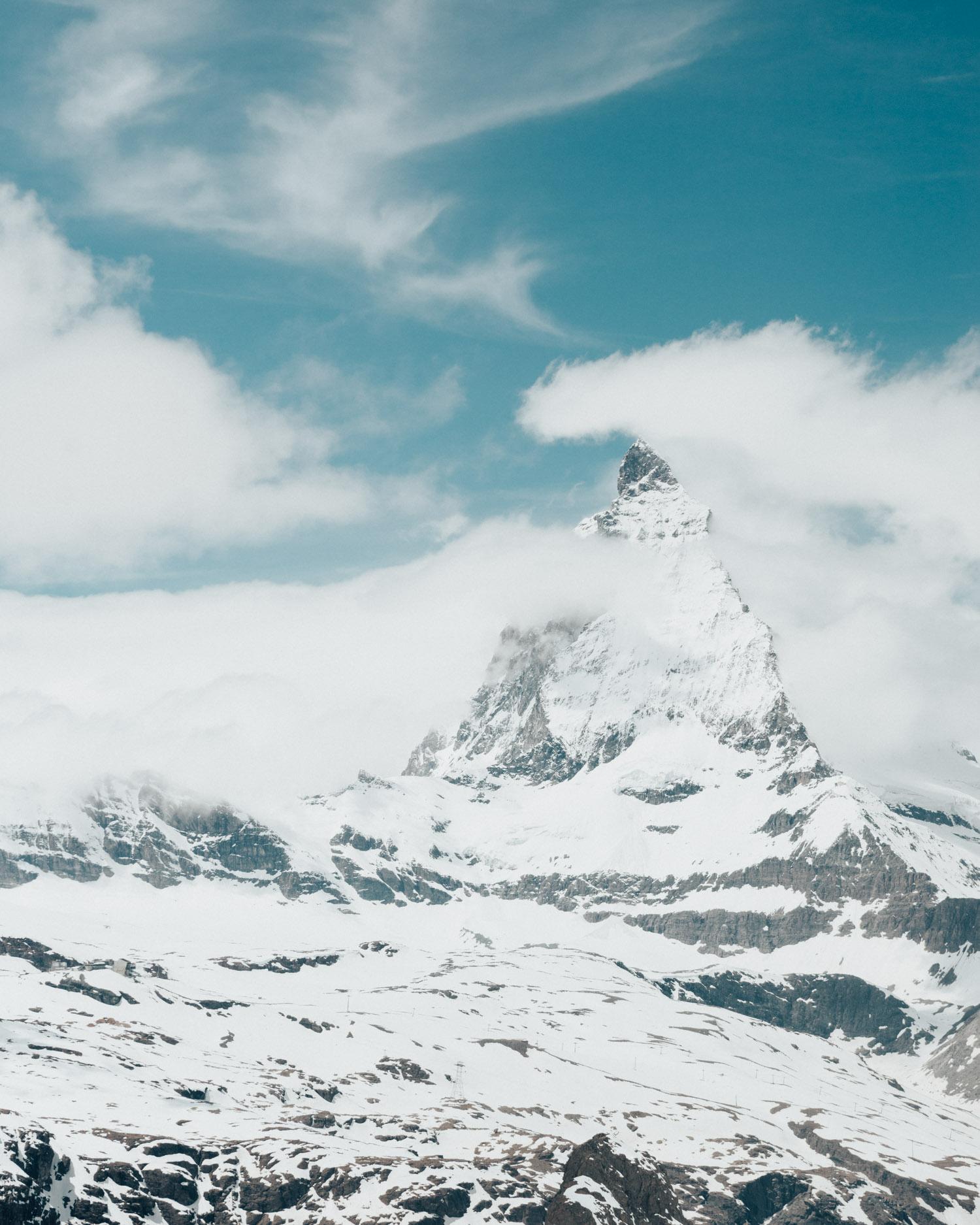 Matterhorn seen from top of Gornergrat