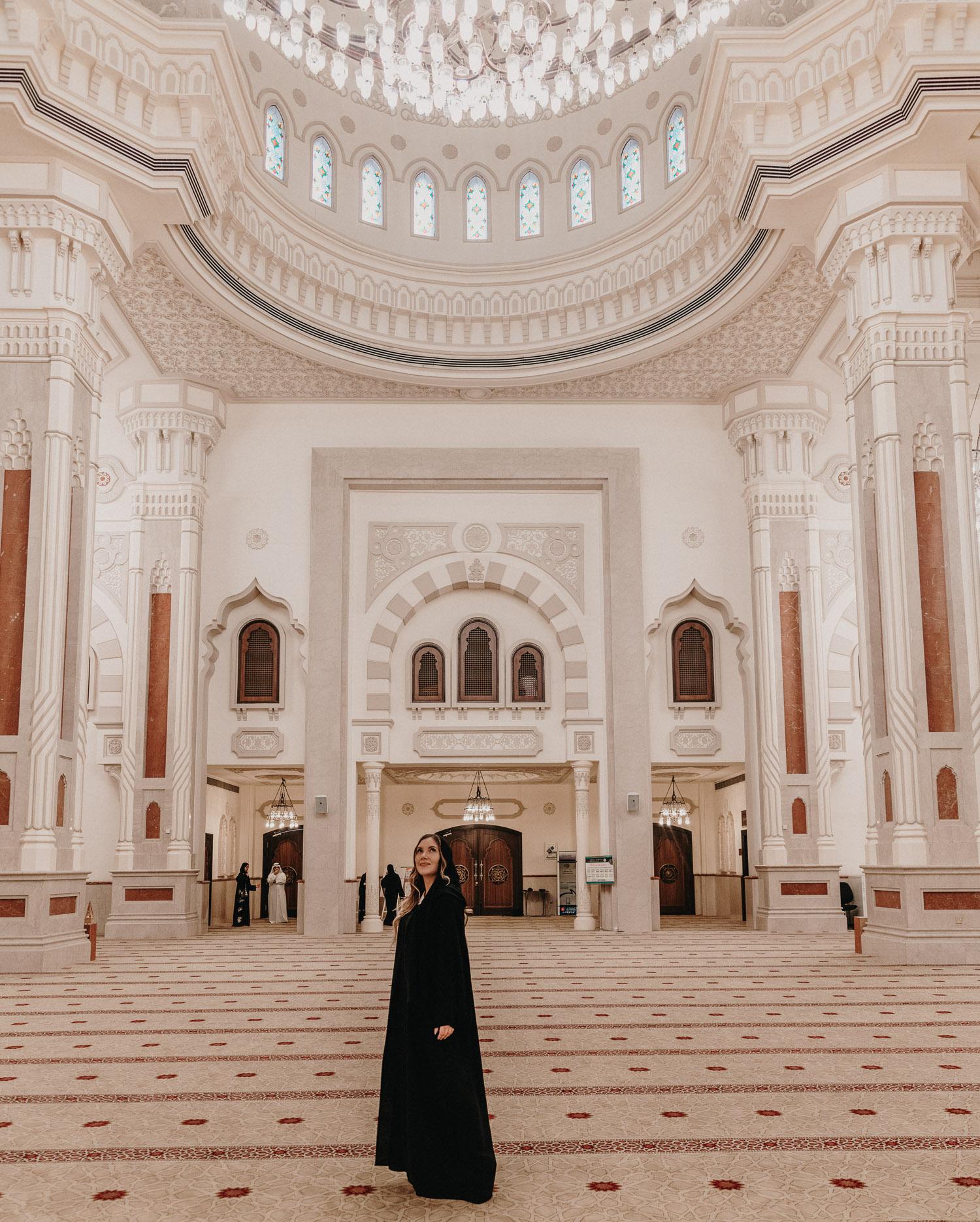 Al Noor Mosque Interior, Sharjah, UAE