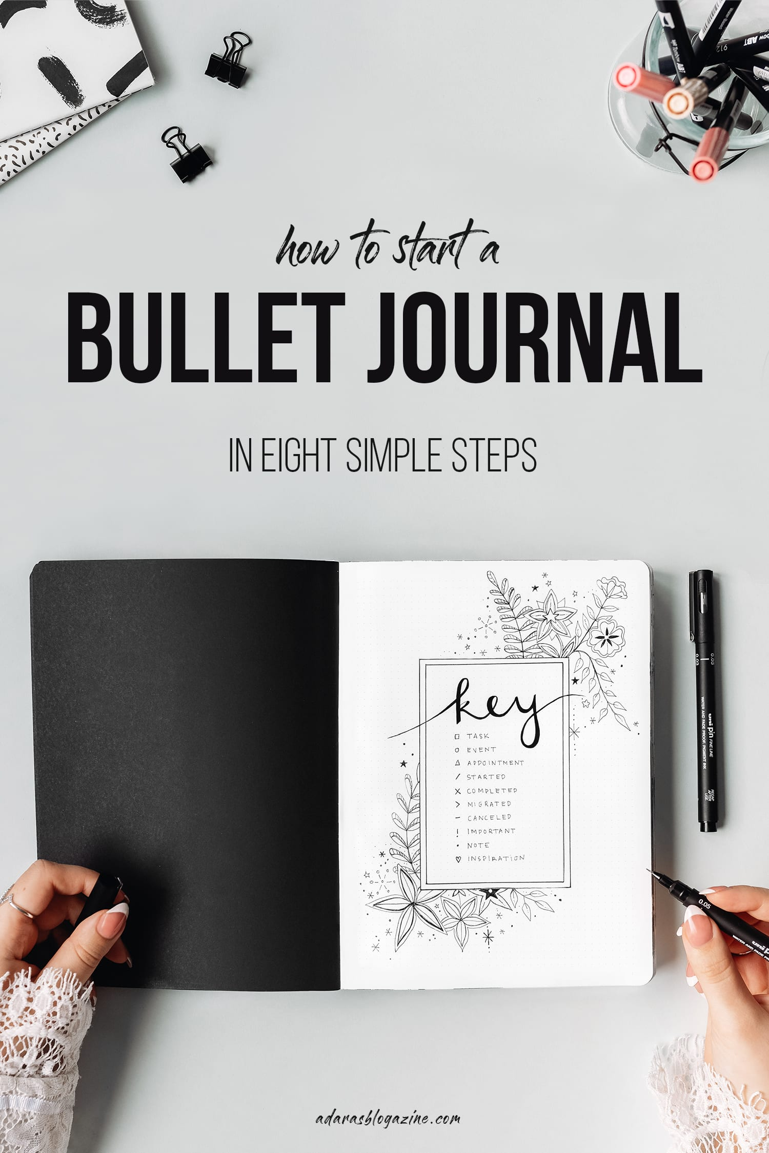 How to Start a Bullet Journal - in 8 Easy Steps