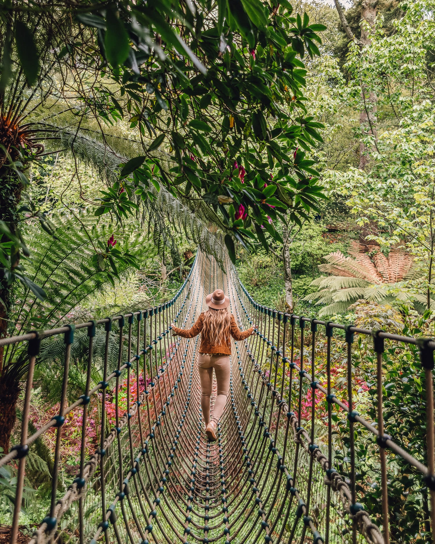 The Burma Rope Bridge, The Lost Gardens of Heligan | Cornwall, UK